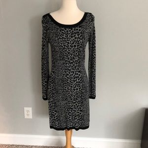 French Connection Leopard LS Dress